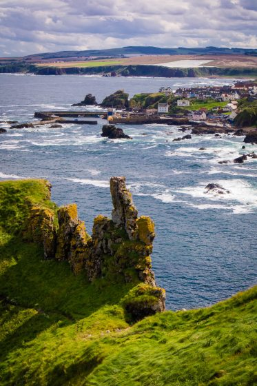 St Abbs and cliffs in the Scottish Borders.