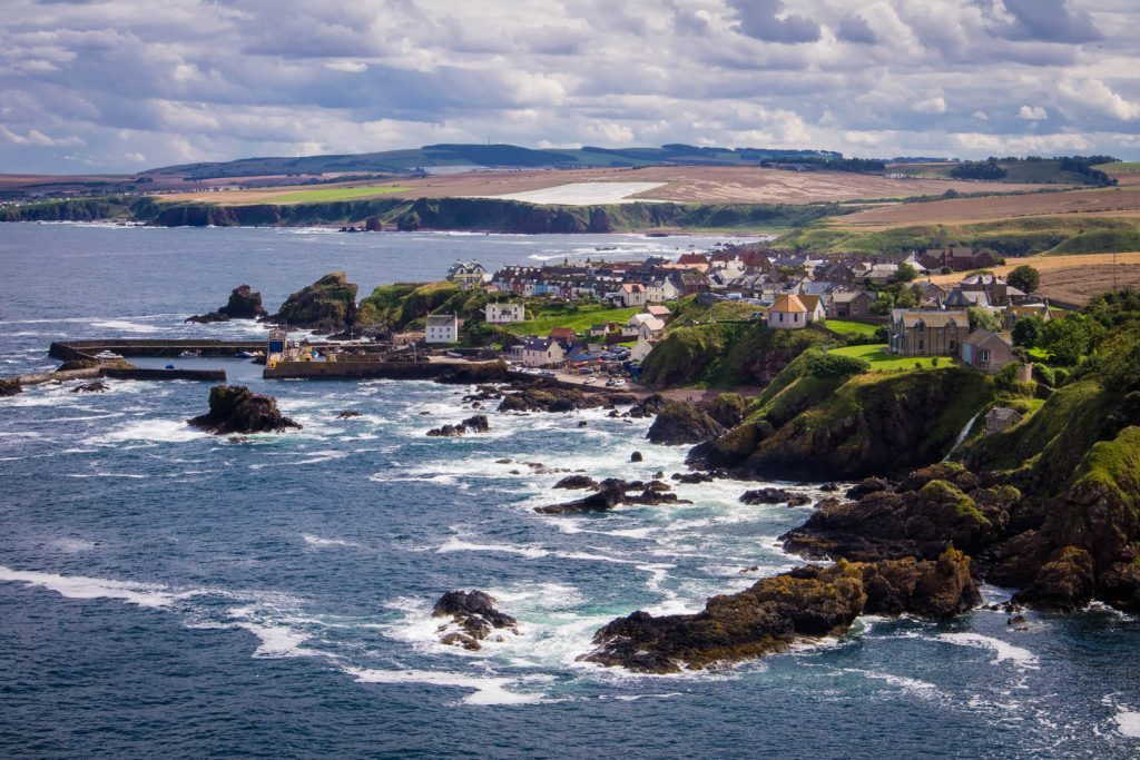 St Abbs in the Scottish Borders in Scotland
