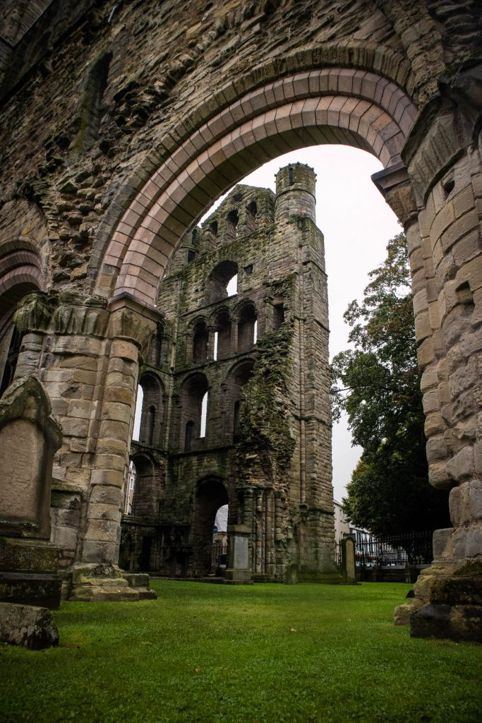 Ruins of Kelso Abbey in the Scottish Borders