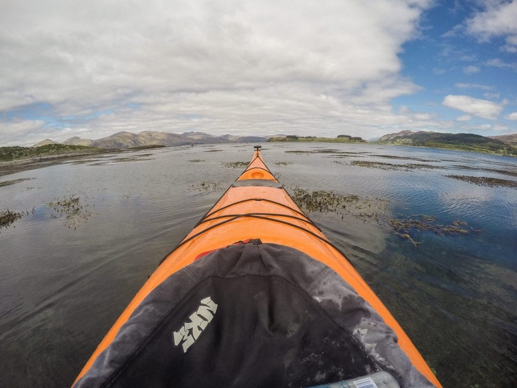 Sea kayaking at Loch Creran by Oban