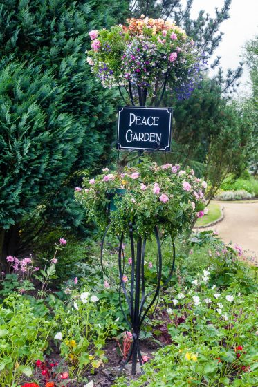 Peace Garden at Seven Lochs Wetland Park, Glasgow, Scotland