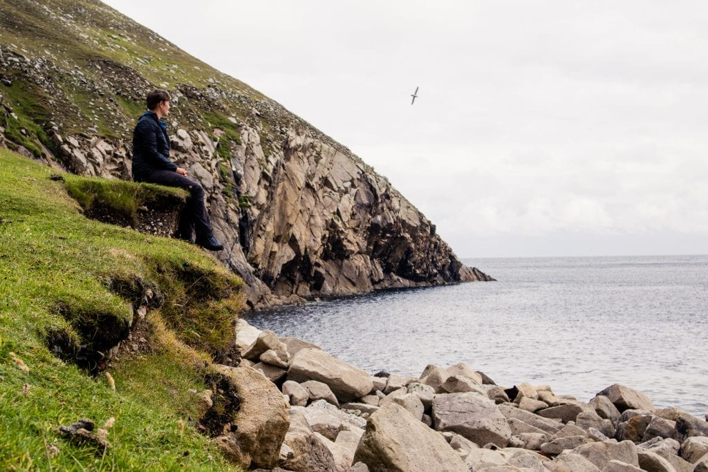 Sitting on the edge of St Kilda