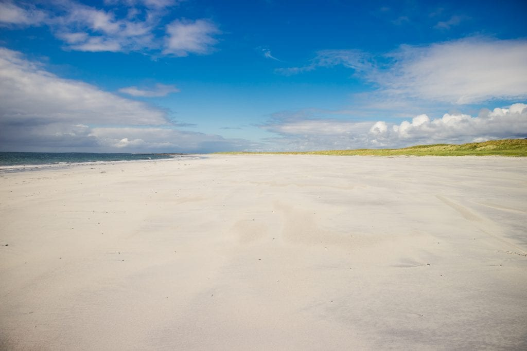 White sandy beach on South Uist