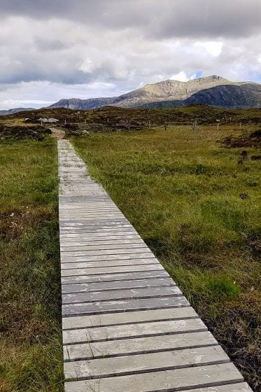 A hiking trail in the Outer Hebrides.