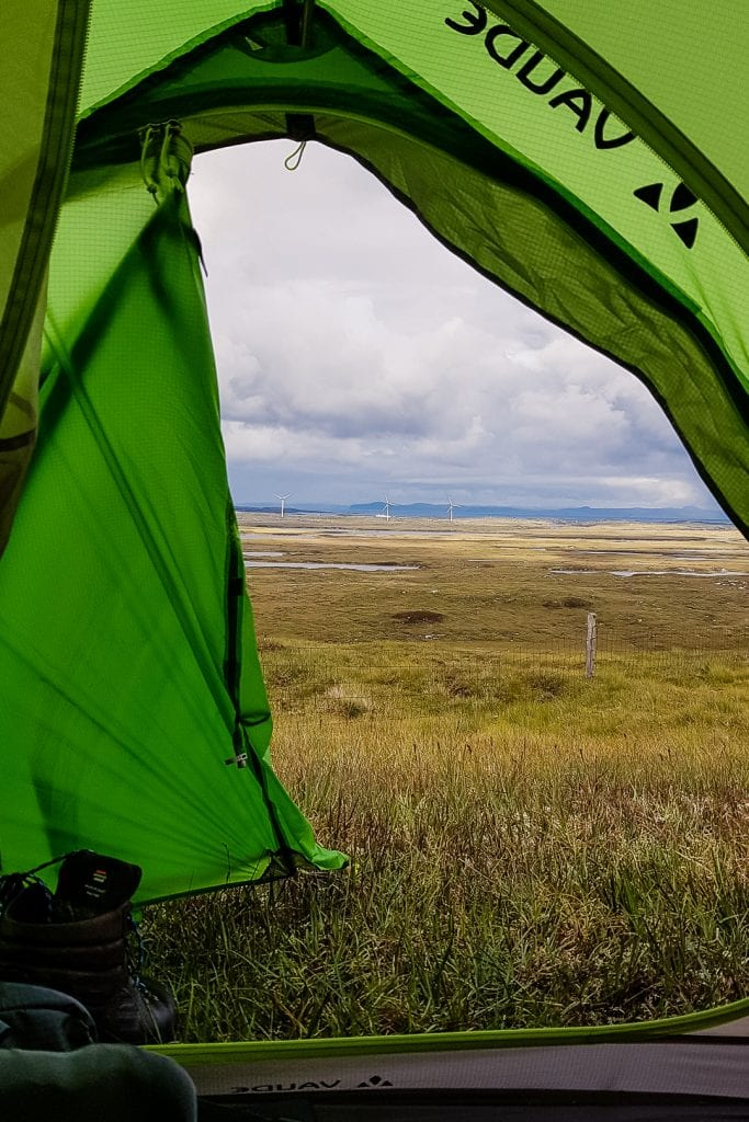 Wild camping near the Lady of the Isles in South Uist.