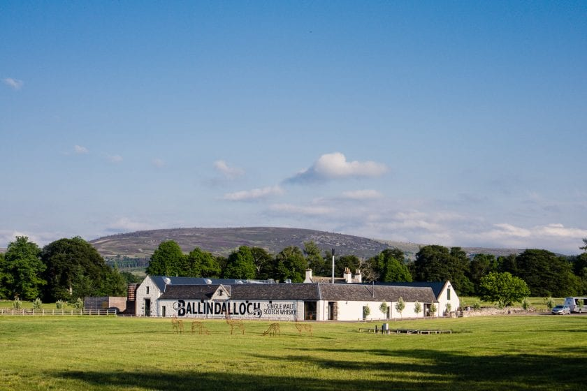 The new Ballindalloch distillery just off the Speyside Way.