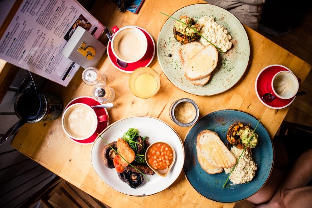 Veggie breakfast at the Mountain Cafe in Aviemore.