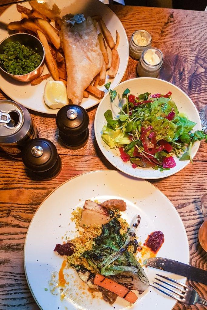 Vegan tagine and salad at Craigellachie Hotel.