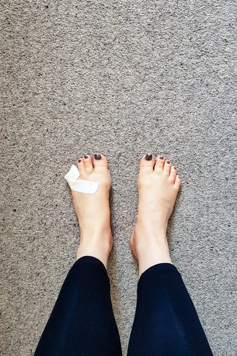 My feet after 4 days of hiking.