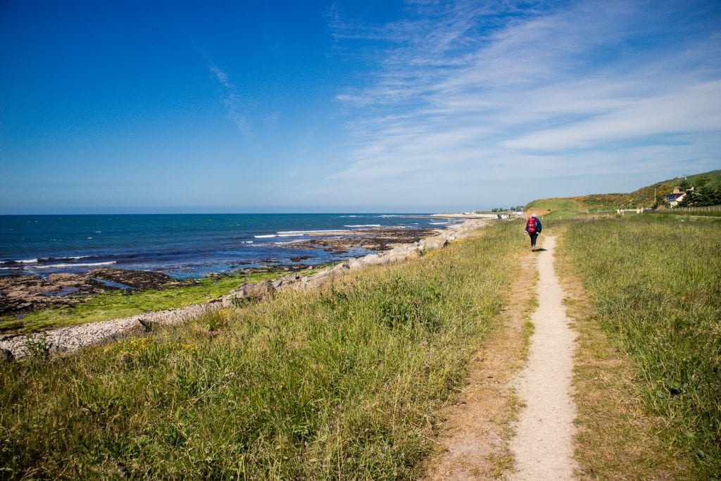 The Speyside Way joining the Moray Coastal Trail for the last few miles.