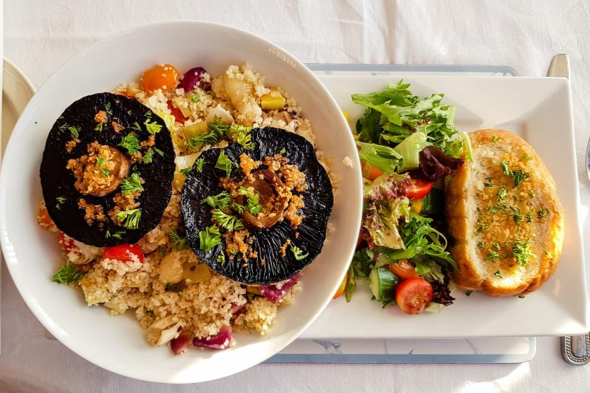 Veggie dinner at Rosemount Hotel in Buckie.