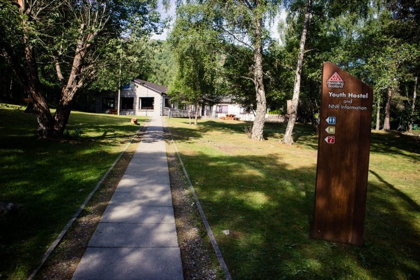 Aviemore Youth Hostel at the beginning of the Speyside Way.