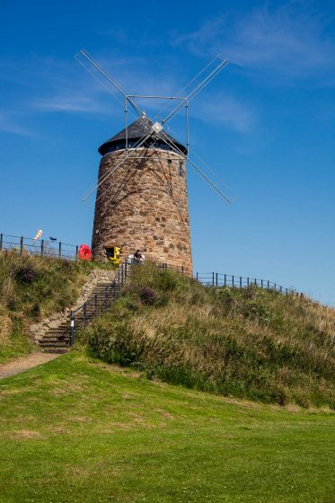 St Monans Windmill on the Fife Coastal Path in Scotland