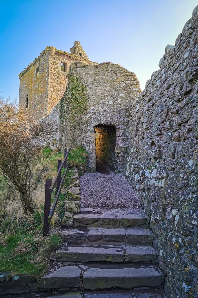 The tower house at Dunnottar Castle in Scotland