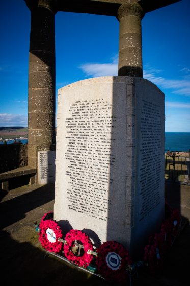 List of soldiers who died in World War I at the Stonehaven War Monument in Scotland