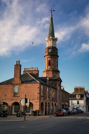 The Stonehaven Town Hall on Market Square