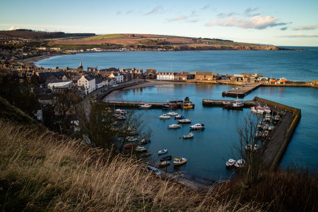 The harbour of Stonehaven in Scotland.