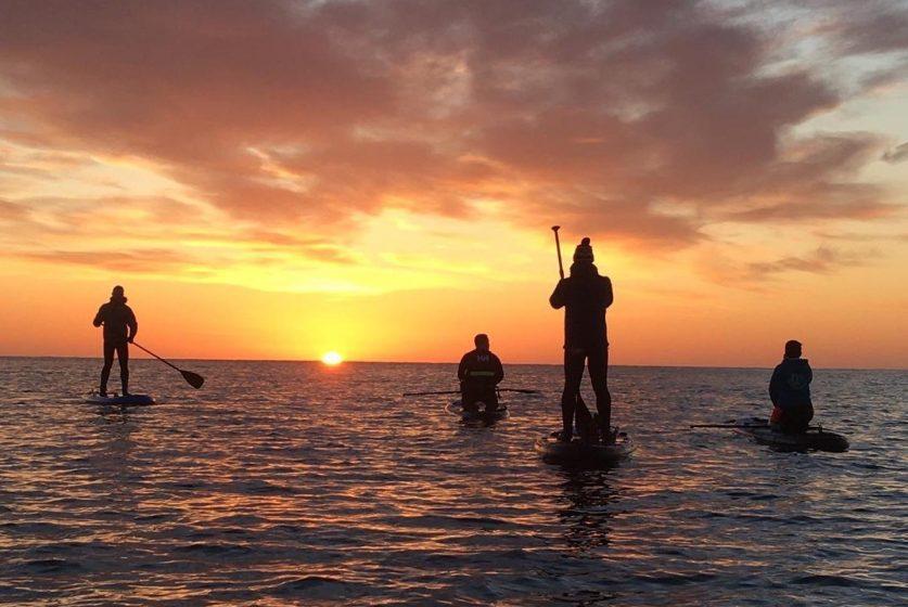 Stonehaven Standup Paddling at sunset
