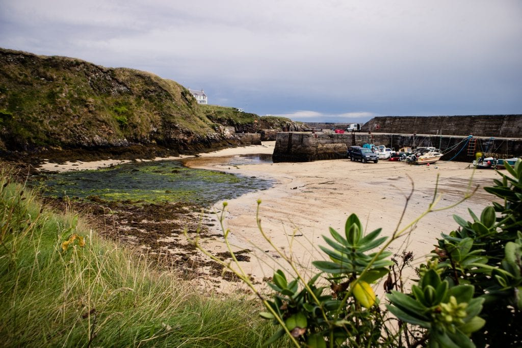 The harbour of Port of Ness on the Isle of Lewis