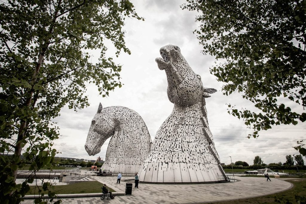 The Kelpies sculpture in Falkirk.