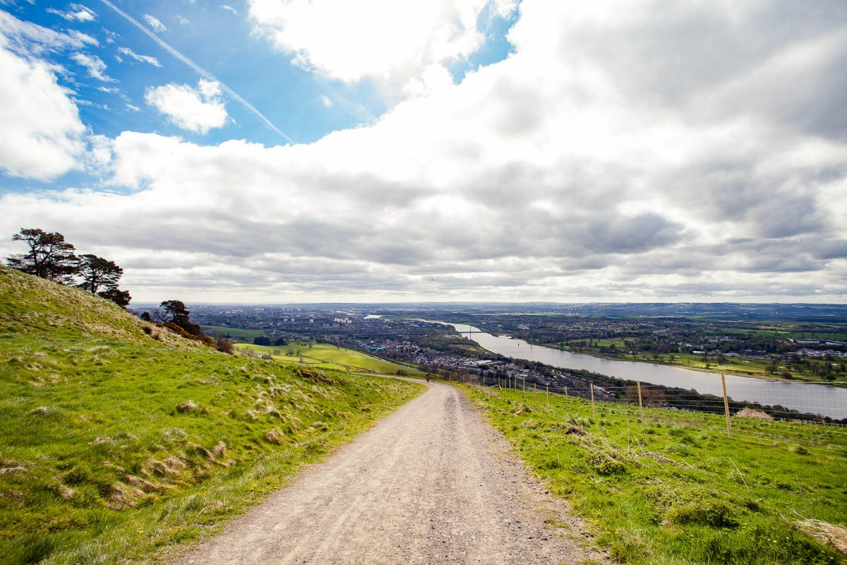 The path leading into the Kilpatrick Hills near Glasgow, Scotland