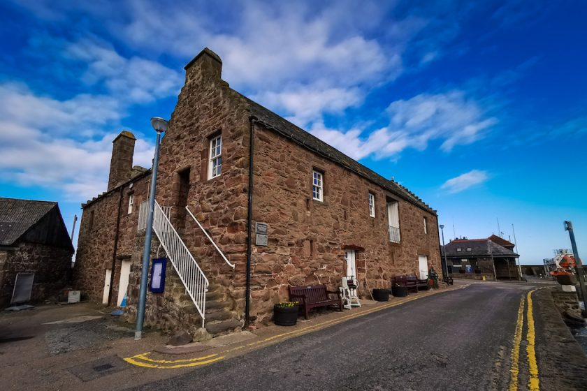 The tolbooth Museum in in Stonehaven Scotland