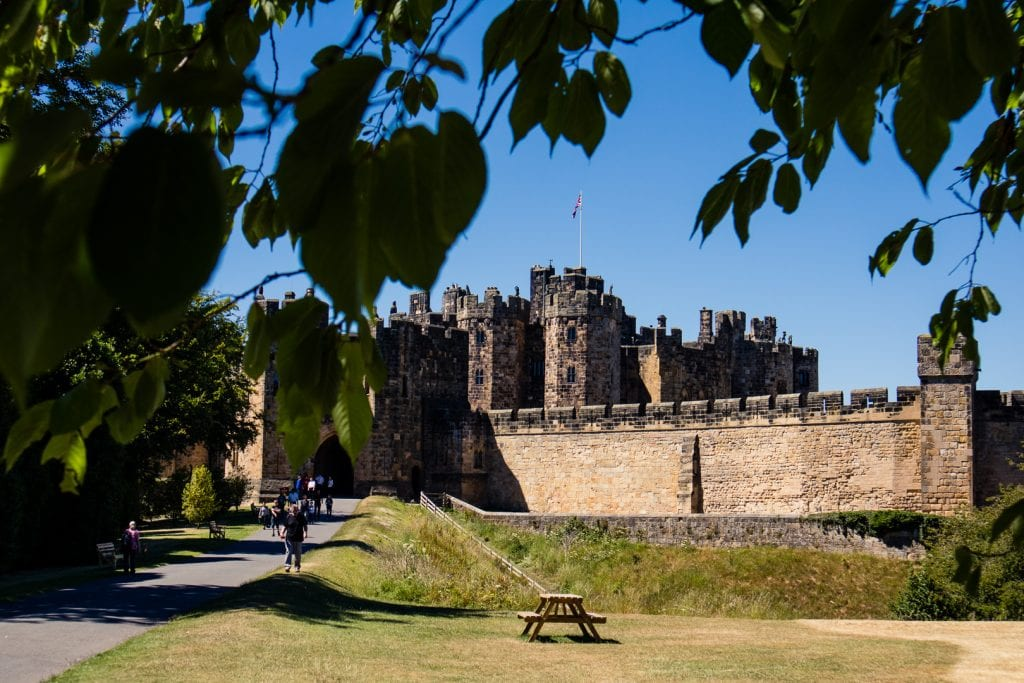 Alnwick Castle in Northumberland is a stop on my day trip to Holy Island with Timberbush Tours.