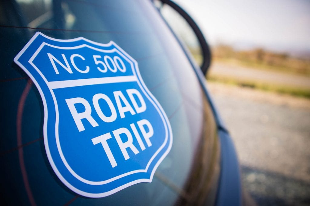North Coast 500 car sticker