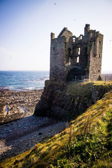 Ruins of Old Keiss Castle in Scotland