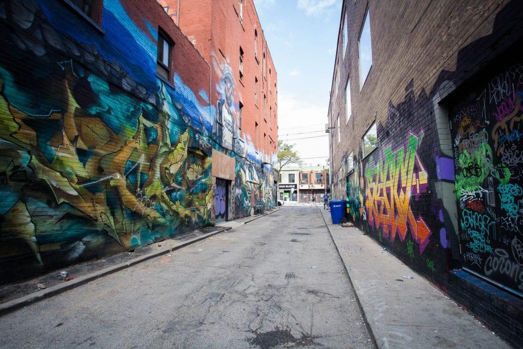 Graffiti alley in Toronto