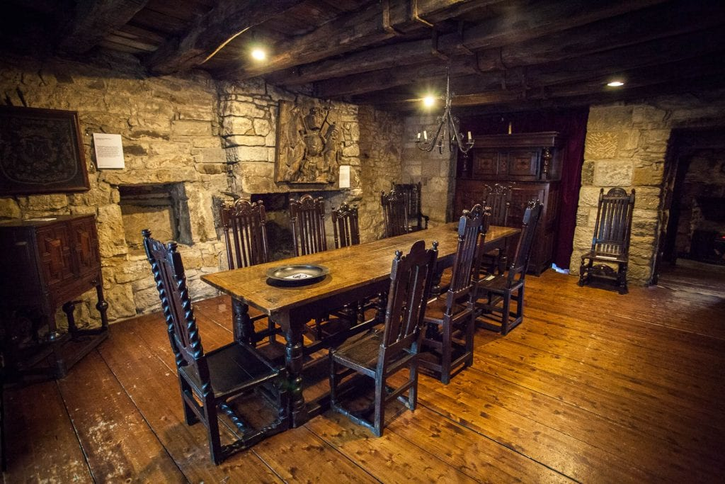 17th century furniture at Provand's Lordship, the oldest house in Glasgow.