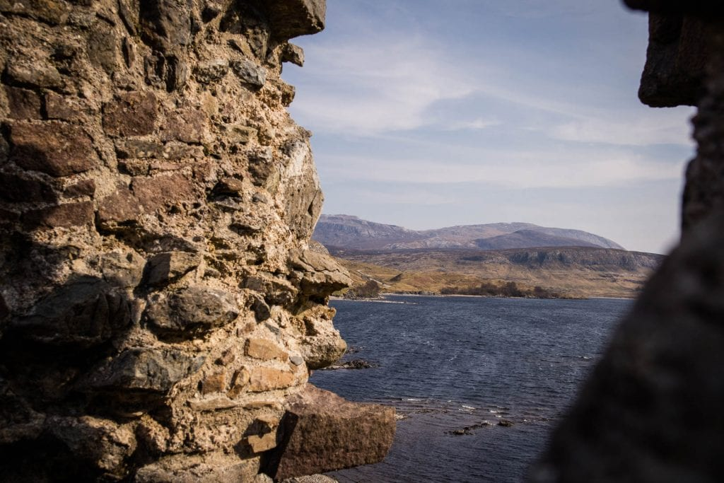 North Coast 500: View from the ruins of Ardvreck Castle