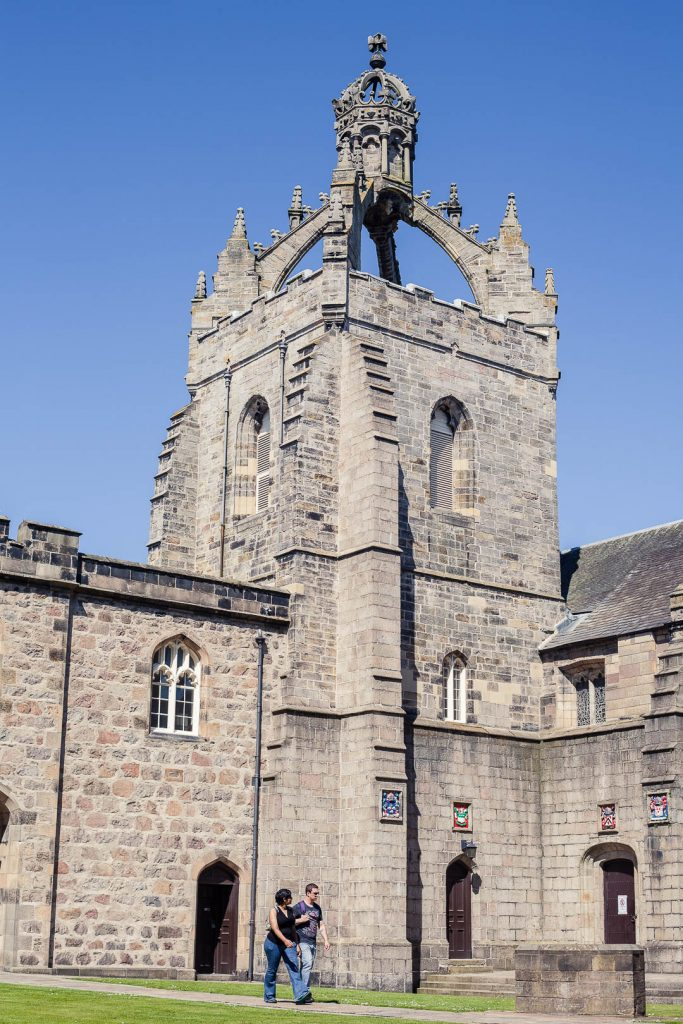 The tower of the University of Aberdeen