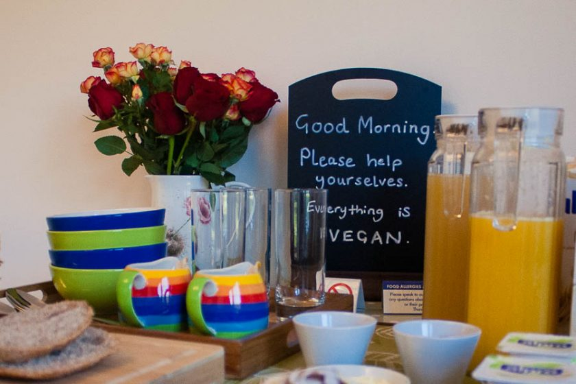 Vegan breakfast buffet