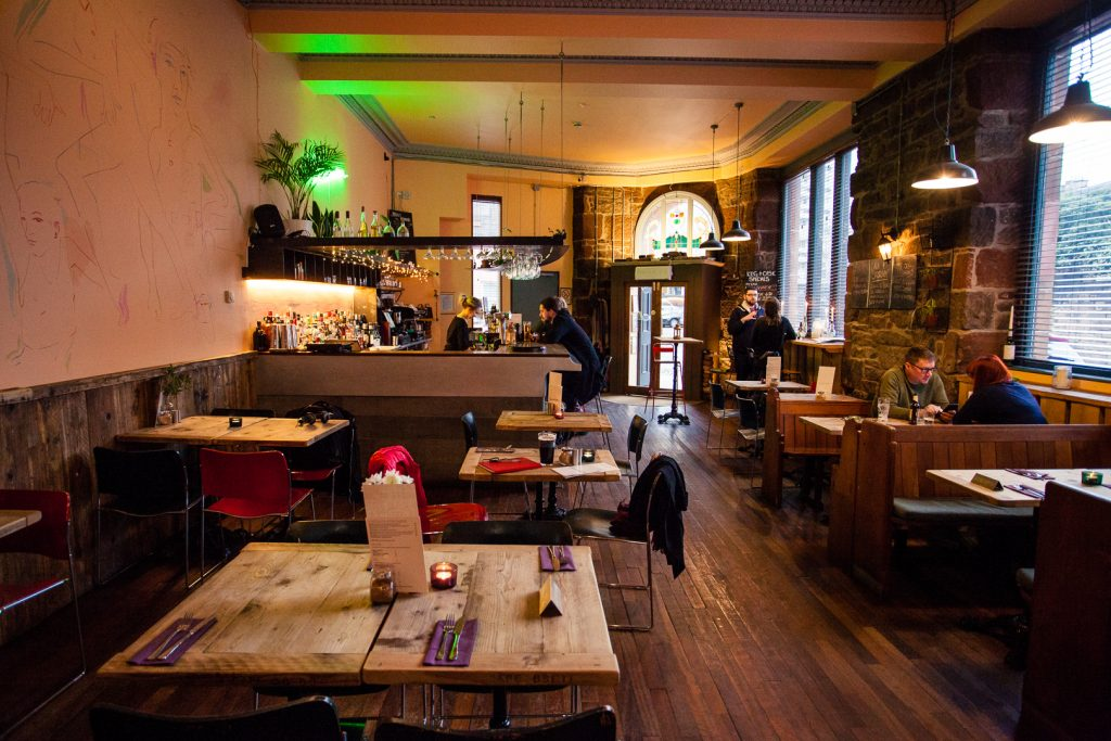 Harmonium vegan restaurant in Edinburgh