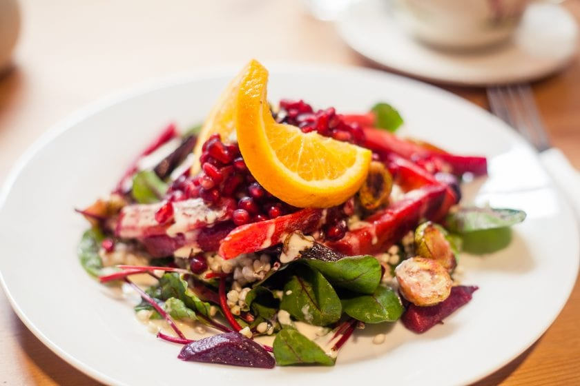 A hearty winter salad at Holy Cow in Edinburgh's New Town.