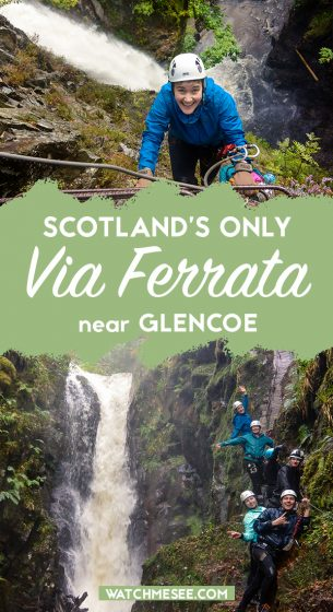 Are you tough enough to climb Scotland's only Via Ferrata? Located in the heart of the Scottish Highlands, the Via Ferrata in Kinlochleven (near Glencoe) leads adventurers up to dizzy heights. Climbing up a narrow gorge alongside one of the tallest waterfalls in Scotland, this is an outdoor activity for real thrillseekers. In this guide, you will find out everything you need to know about this experience and my personal experience of what it is like to climb the Via Ferrata in Scotland.