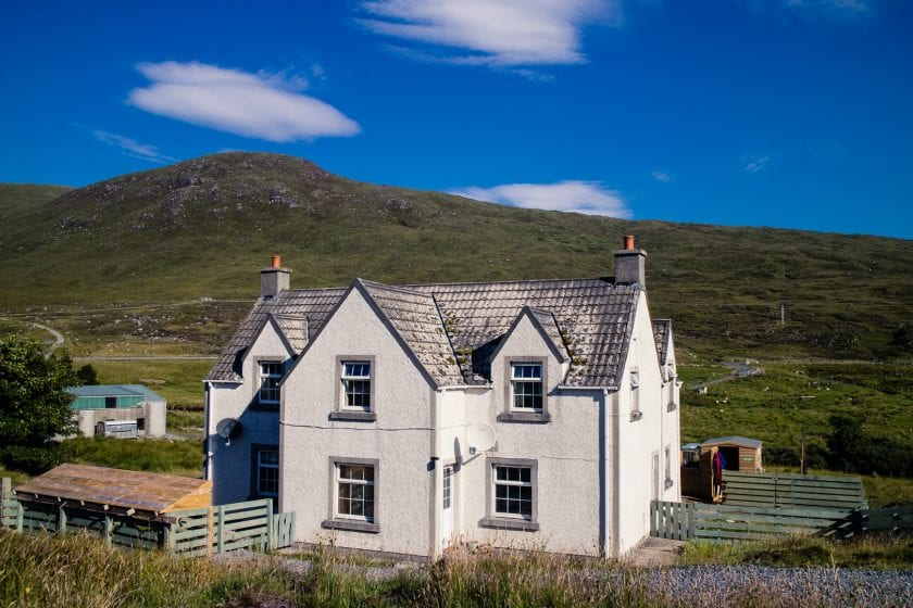 Vigadale House B&B on Harris, directly on the Hebridean Way route.