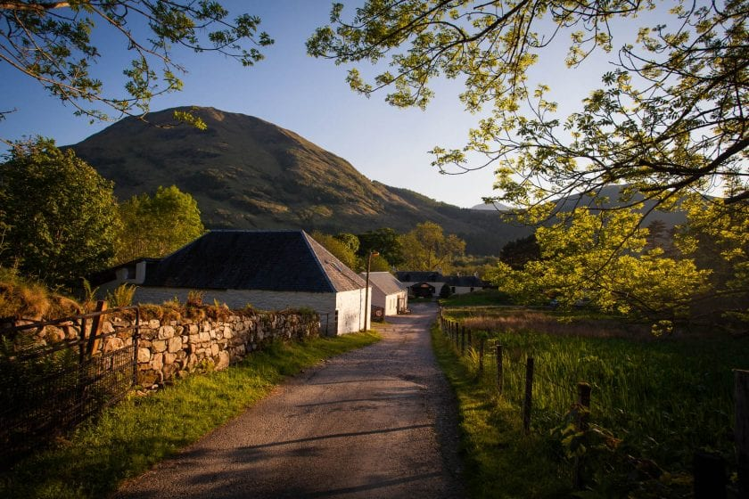 Hostel accommodation in Glencoe
