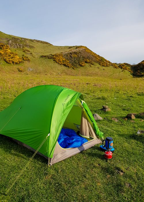 Wild camping on Bute.