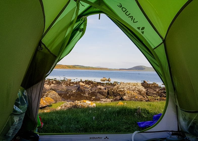Morning views while wild camping in Scotland.