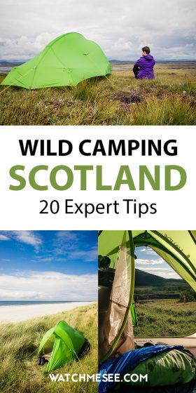 All you need to know about wild camping in Scotland from finding a perfect spot to pitch, packing tips & the most important laws and rules to keep in mind.