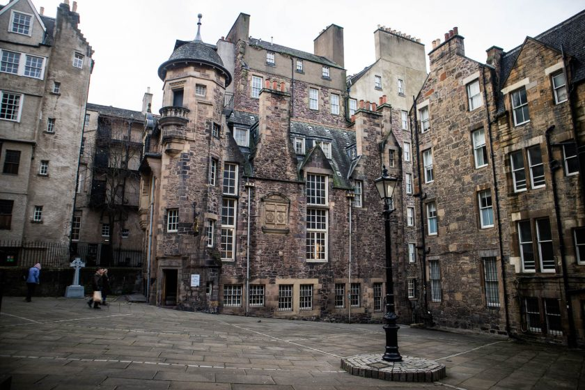 Makar's Court and the Writer's Museum in Edinburgh