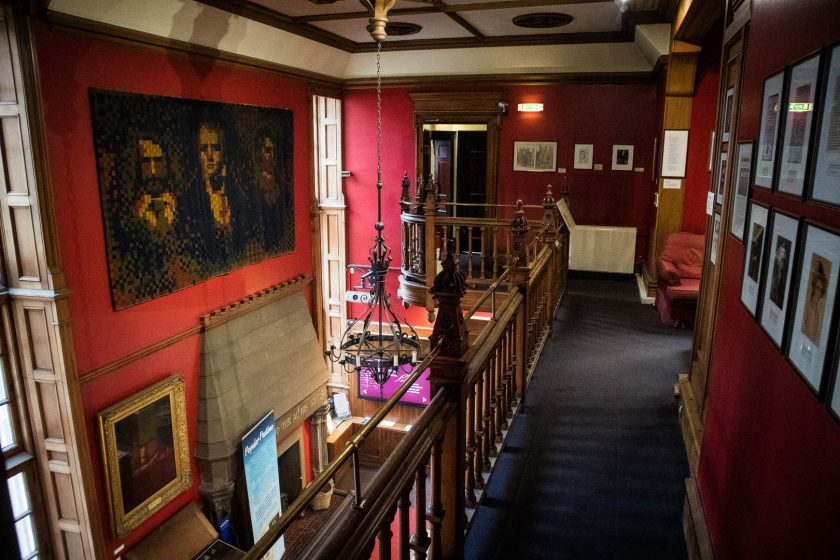 Hallway and artwork at the Writer's Museum in Edinburgh