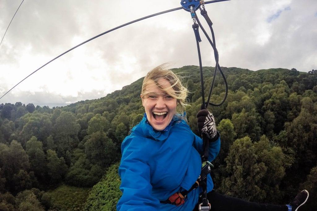 Ziplining in Scotland: Go Ape Aberfoyle