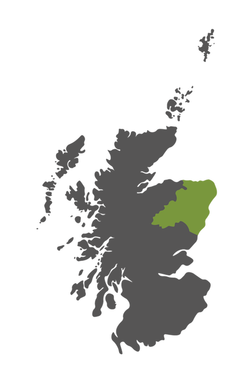 aberdeenshire map scotland