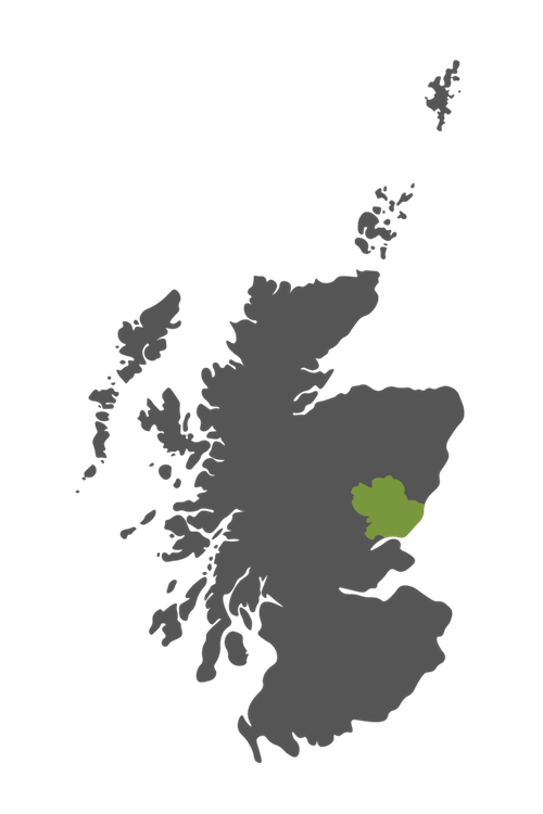 angus map scotland