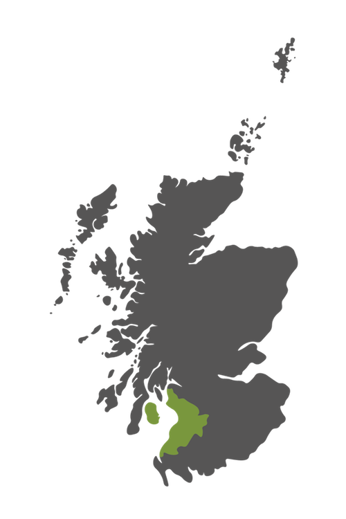 ayrshire map scotland
