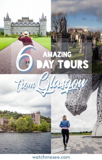 Not sure which of the many guided day tours from Glasgow is the right for you? This guide to my favourite day tours will help you decide - from the shores of Loch Ness to the history of Culzean Castle, from the bustling harbour town Oban to the wonder of the Kelpies; there is a one-day Scotland itinerary for everyone!