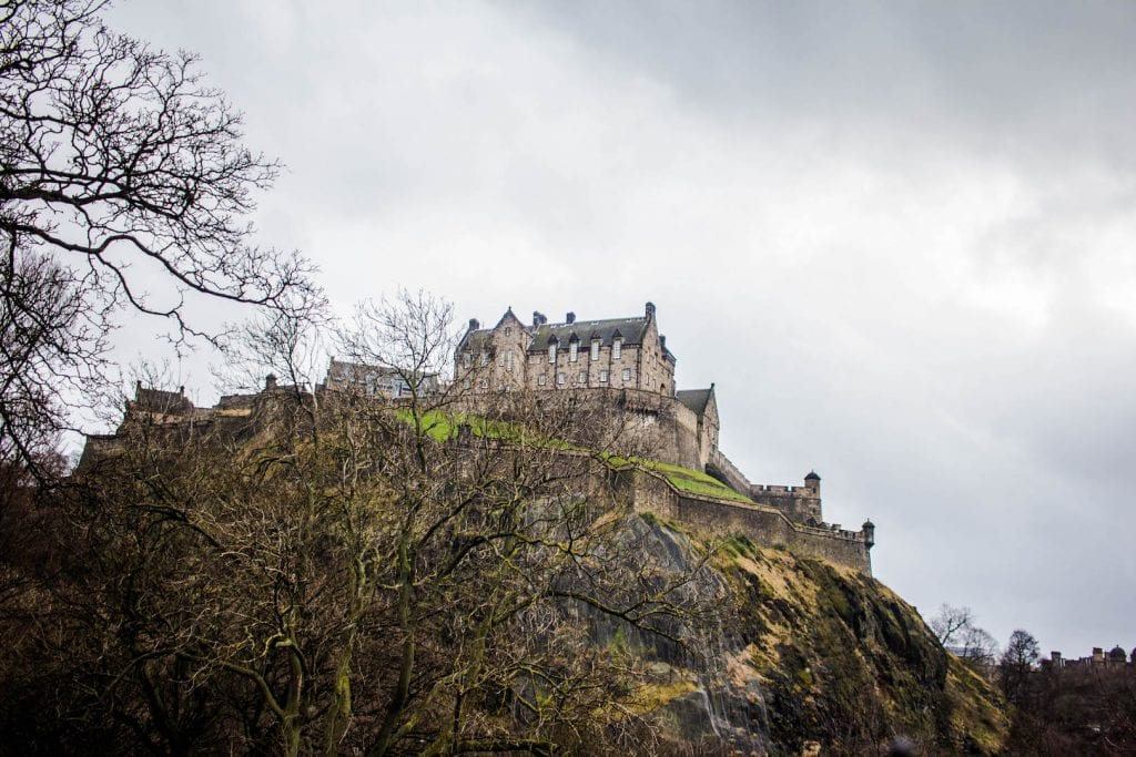 Edinburgh Castle in November